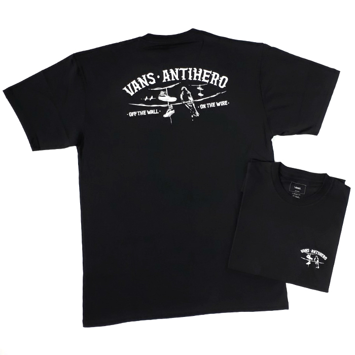 Vans x Anti Hero - On a Wire - T-Shirt - Black