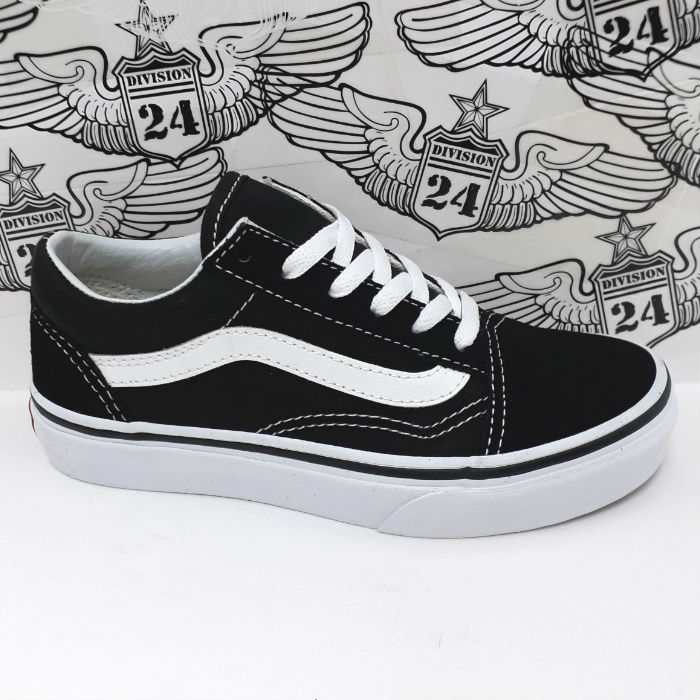 Vans - KIDS Old Skool Shoes - Black/True White
