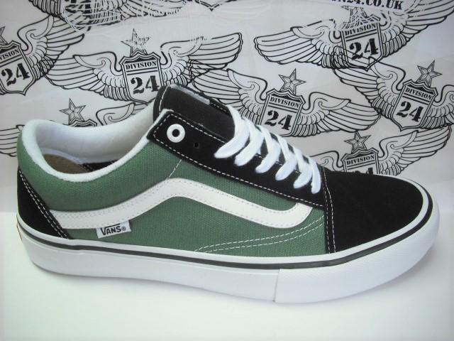 Vans Old Skool Pro Shoes Black Duck Green d67233852
