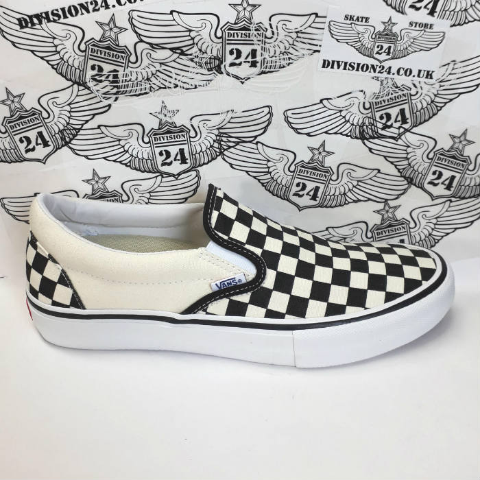 Vans - Slip-On Pro Shoes - Checkerboard Black/White
