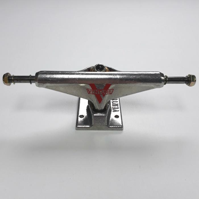 Venture Trucks - 5.25 High / Low - Skateboard Trucks - Raw