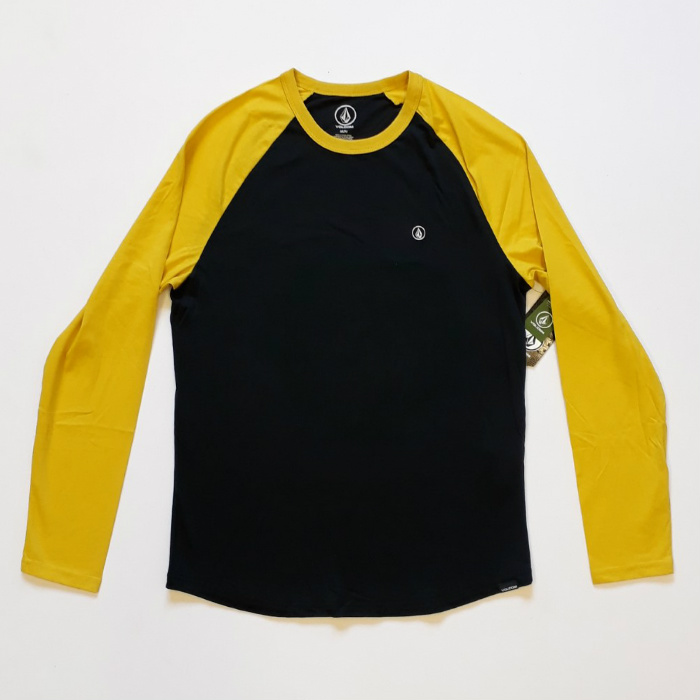 Volcom - Pen Basic - Long Sleeve T-Shirt - Sulphur