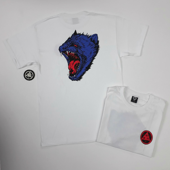 Welcome Skateboards - Tasmanian T-Shirt - White/Blue/Red